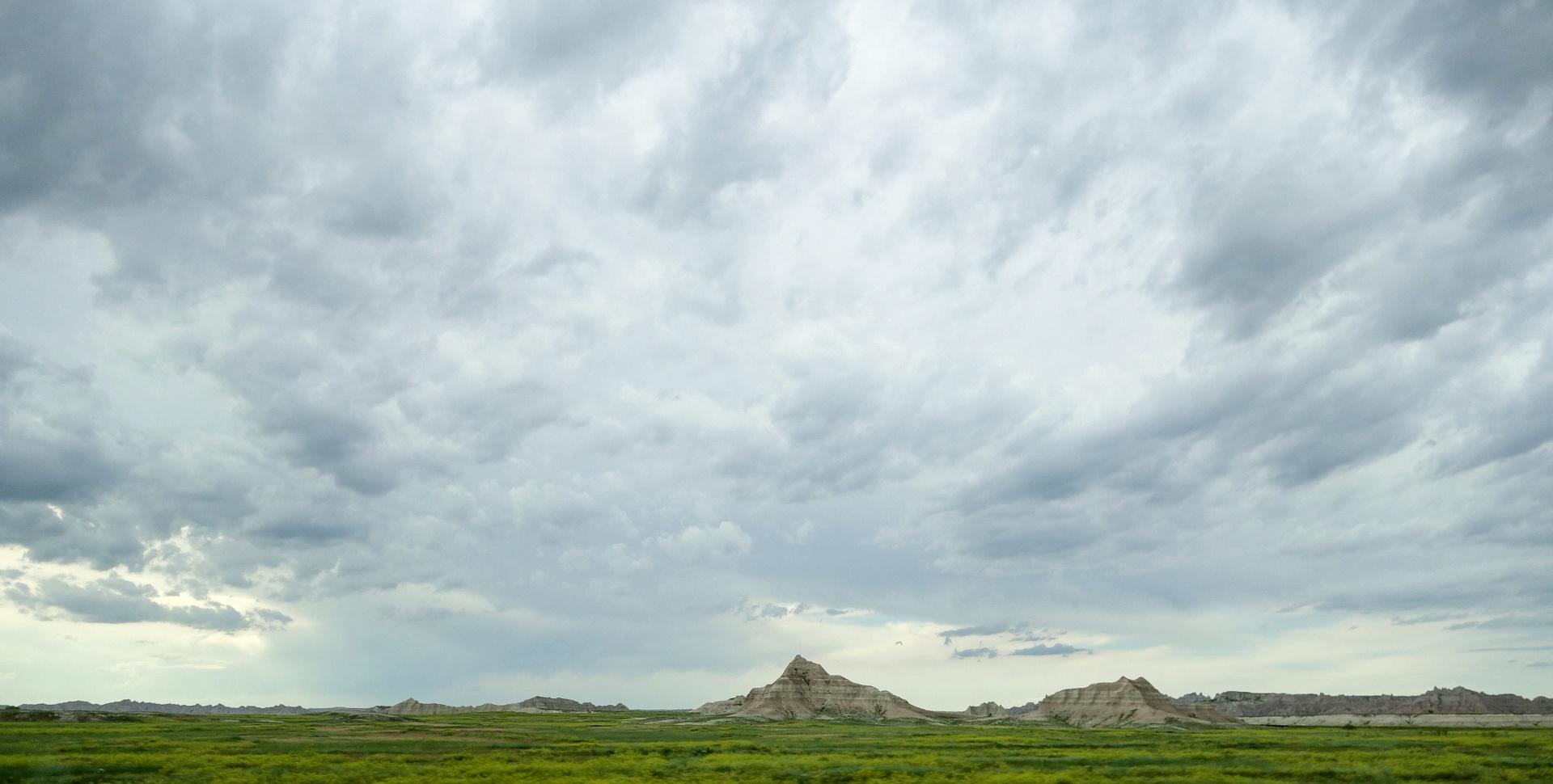Aufziehender Sturm Badlands - Süddakota
