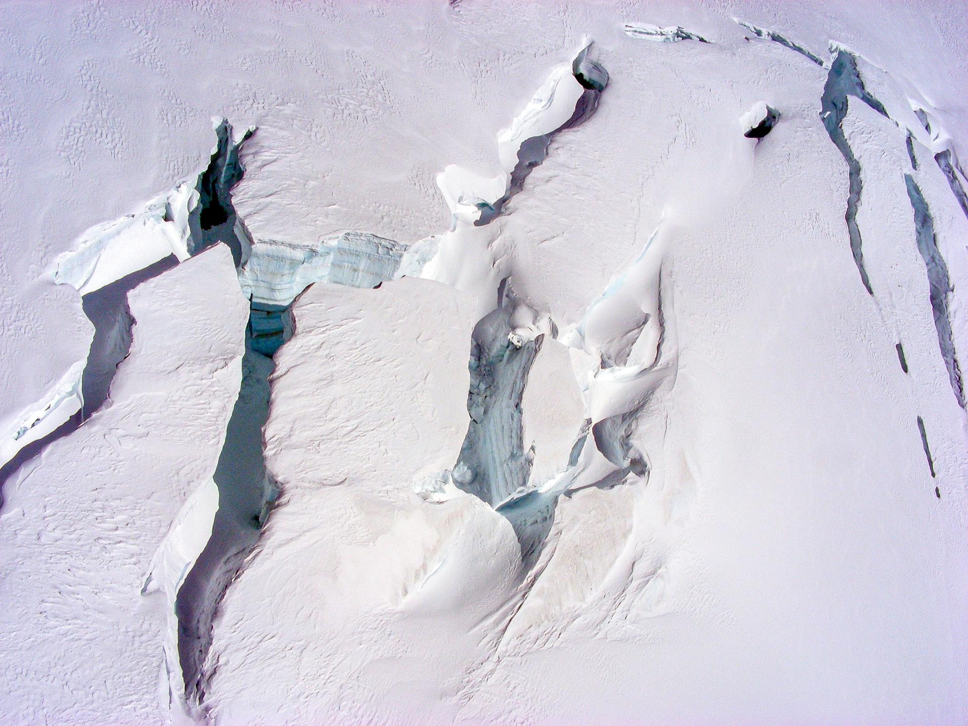 Gletscherspalten - Alpen